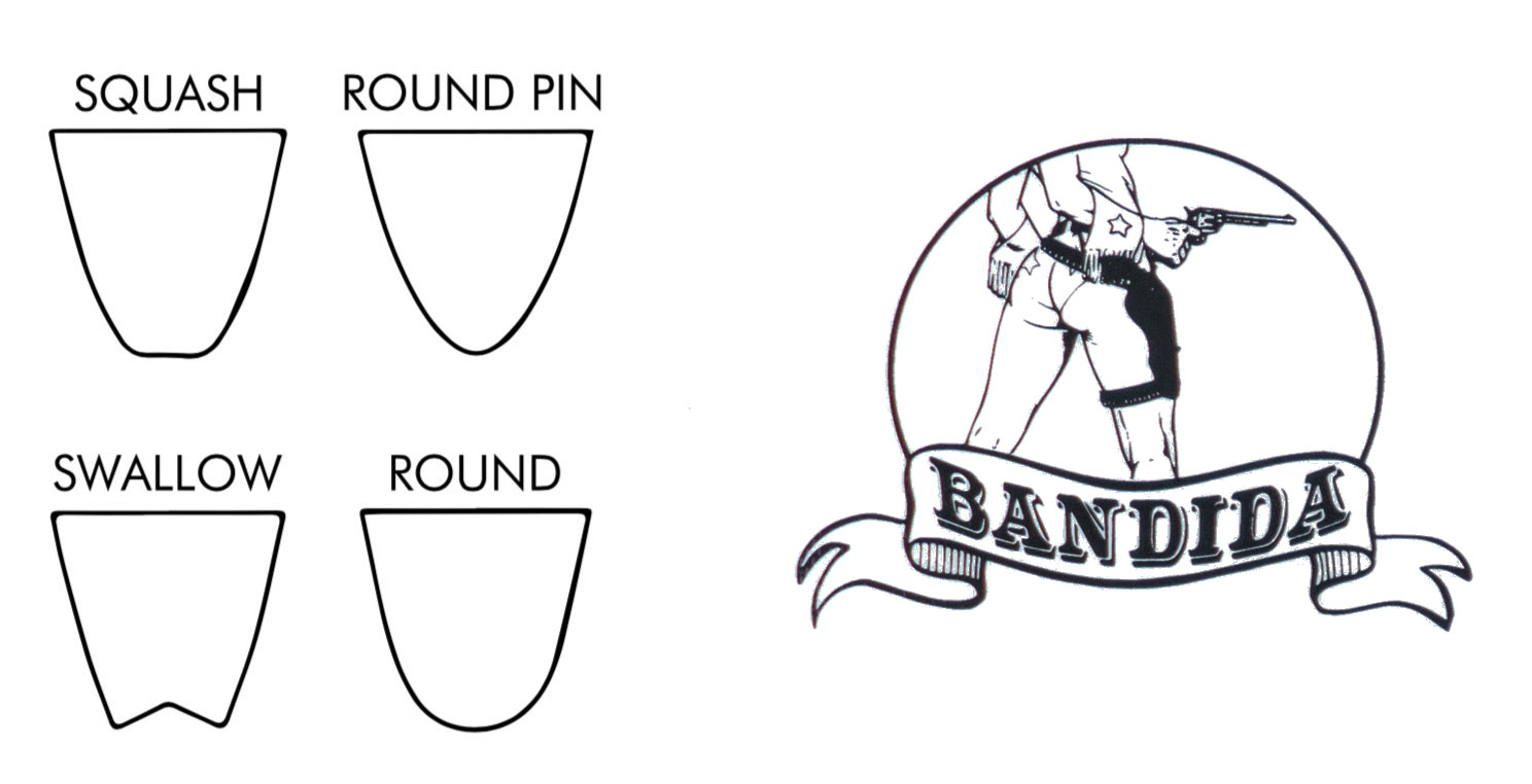 Cabianca Surfboards Bandida Tail Shapes