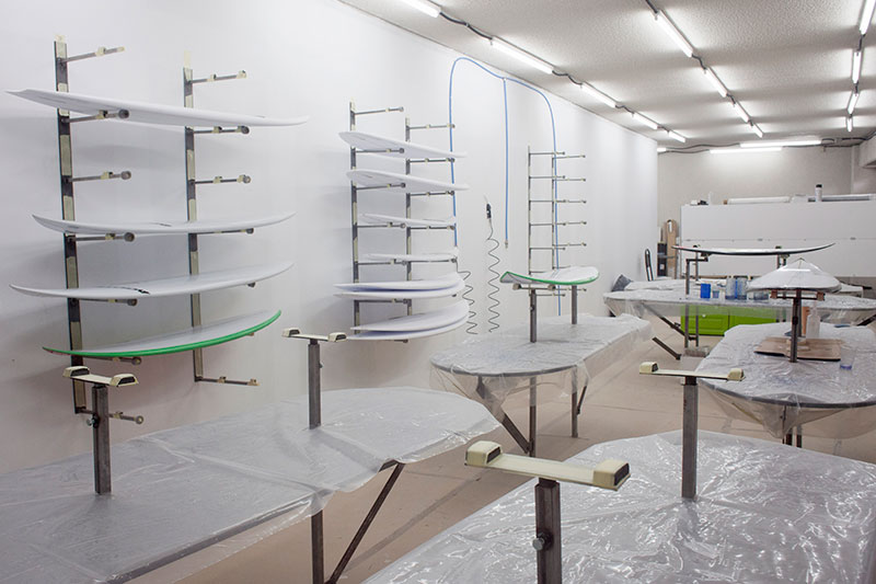 Basque Country Surf Company Glassing Room Surfboards