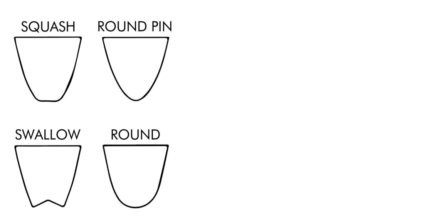 Squash Round Square Round Pin