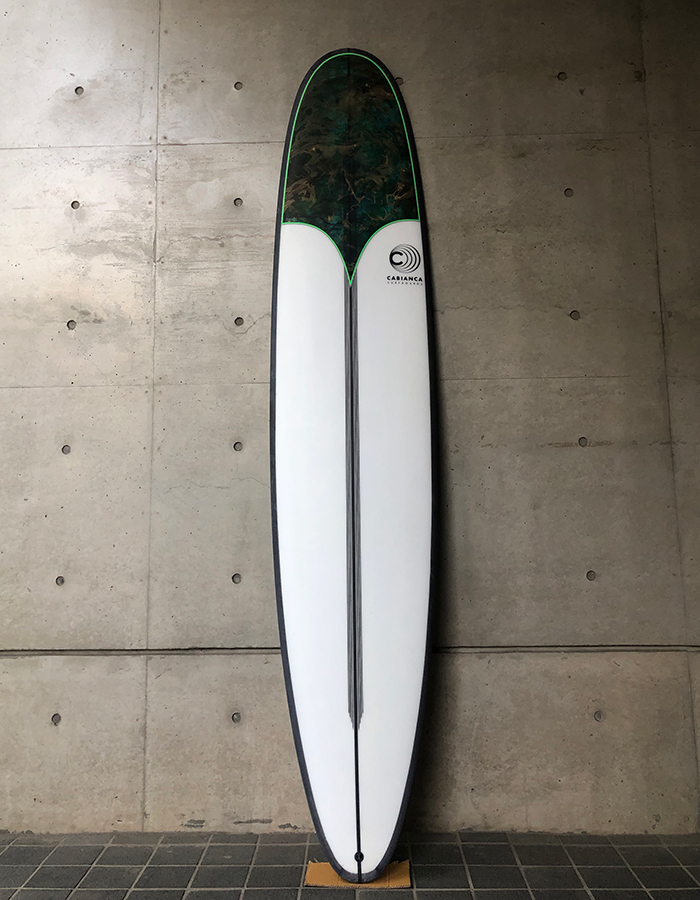 Cabianca Surfboards Slimmer Black Rails Longboard EPS/Epoxy PU/Polyster Inlay