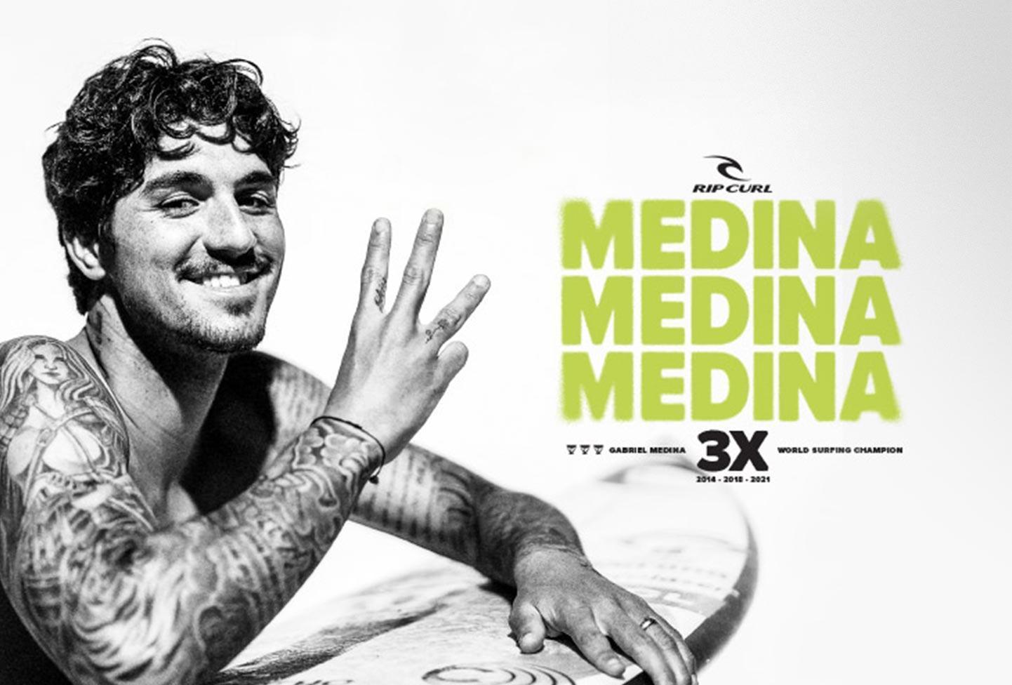 3x MEDINA World Champion Surfing Rip Curl Cabianca Surfboards
